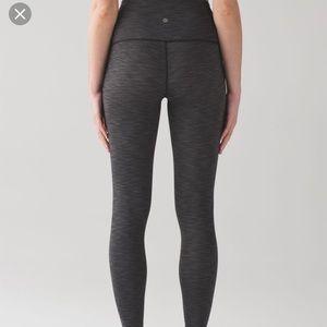 Lululemon gray wunder under leggings high-rise 10
